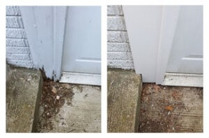 before and after door threshold
